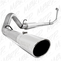 "MBRP 1999-2003 Ford Excursion 7.3L 4"" Turbo Back, Single Side Exit, Aluminized -- S6204AL"