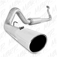 "MBRP 1994-1997 Ford F-250/350 7.3L 4"" Turbo Back, Single Side Exit, Off-Road (Aluminized downpipe), Aluminized  -- S6218AL"
