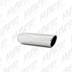 "MBRP Universal 3.5"" OD, 2.25"" inlet, 12"" in length, Angled Cut Rolled End, weld on, T304  -- T5137"