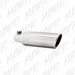 "MBRP  Universal 3.5"" OD, 2.25"" inlet, 12"" in length, Angled Cut Rolled End, Clampless-no weld, T304  -- T5147"